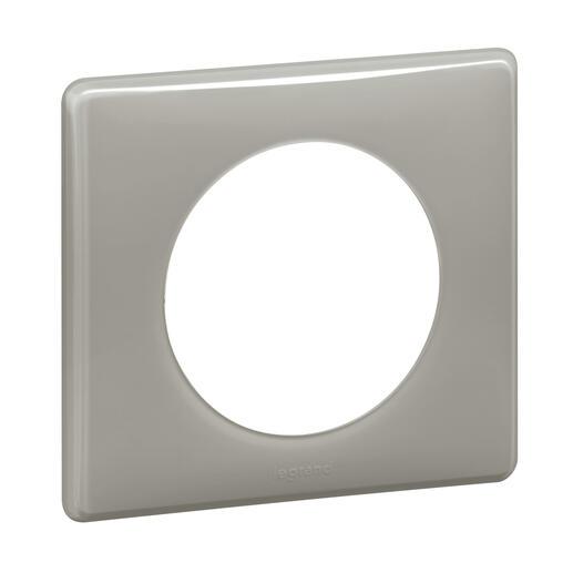 Plaque Céliane - Laqué Gris perle - 1 poste