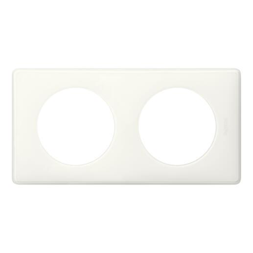 Plaque de finition Céliane - Laqué Blanc - 2 postes