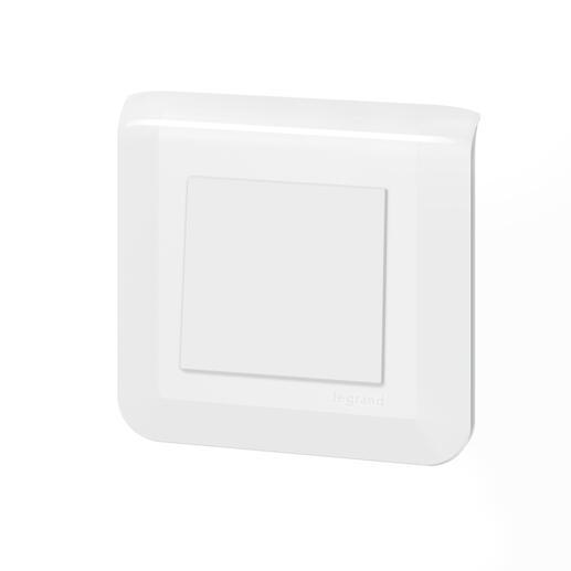 Interrupteur ou va-et-vient Mosaic 10A blanc complet avec plaque et fixation à vis