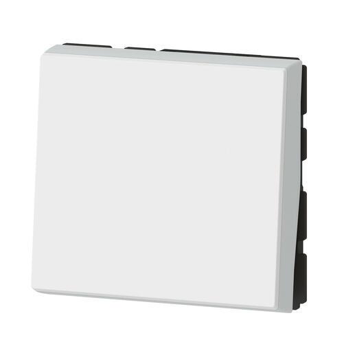 Poussoir lumineux avec voyant Mosaic Easy-Led 6A 2 modules - blanc