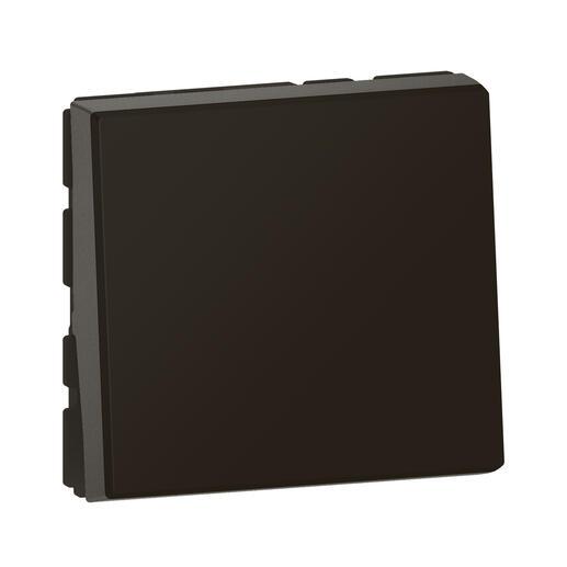 Interrupteur ou va-et-vient témoin avec voyant Mosaic Easy-Led 10A 2 modules - noir mat