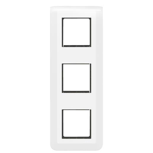 Plaque Mosaic avec support pour 3 x 2 modules montage vertical - blanc