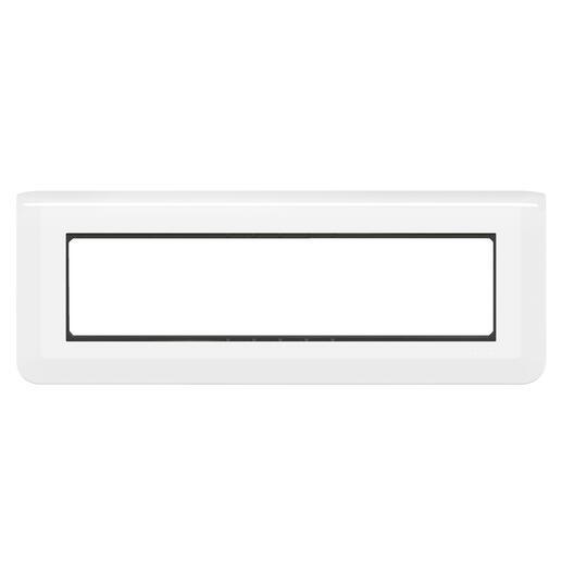 Plaque Mosaic avec support pour 8 modules montage horizontal - blanc