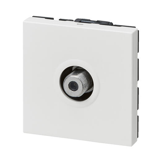 Prise TV typeF à visser Mosaic 2 modules - blanc
