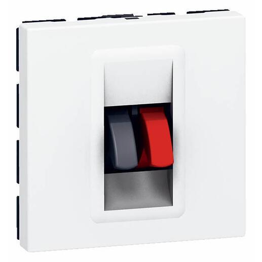 Prise haut-parleur Mosaic 2 modules - blanc