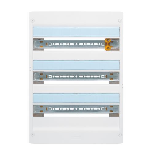 Coffret à équiper - 3 rangées 18 modules - 500x355x103,5mm - avec borniers