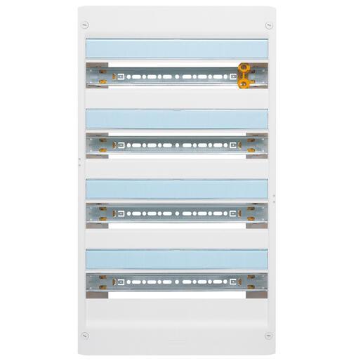 Coffret à équiper - 4 rangées 18 modules - 625x355x103,5mm - avec borniers