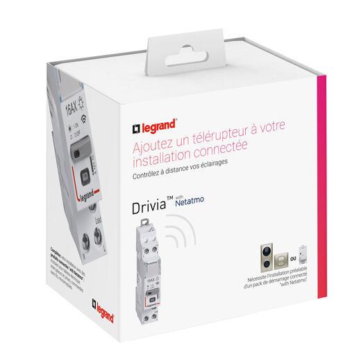 Télérupteur connecté DRIVIA with Netatmo silencieux 1P 16AX 230V~- 1 module