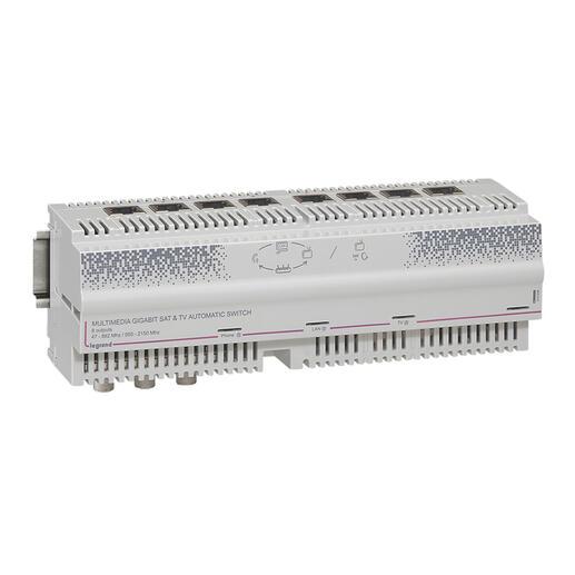 Centrale automatique Gigabit modulaire télévision TNT câble 8 sorties RJ45 - 12 modules