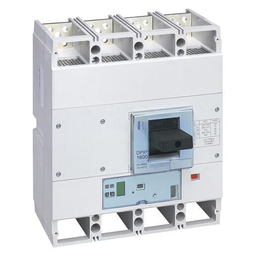 Disjoncteur électronique S2 avec unité de mesure DPX³1600 pouvoir de coupure 36kA 400V~ - 4P - 630A