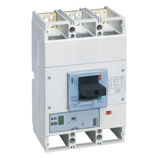 Disjoncteur électronique Sg avec unité de mesure DPX³1600 pouvoir de coupure 70kA 400V~ - 3P - 1600A