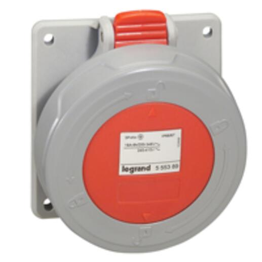 Prise à entraxes unifiés P17 IP66/67 32A - 380V~ à 415V~ - 3P+T