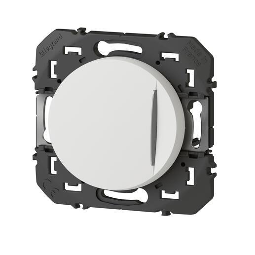 Interrupteur ou va-et-vient avec voyant lumineux dooxie 10AX 250V~ finition blanc