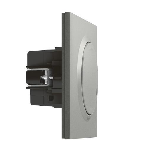 Interrupteur filaire connecté avec option variateur dooxie with Netatmo sans neutre 5W à 300W + compensateur - alu