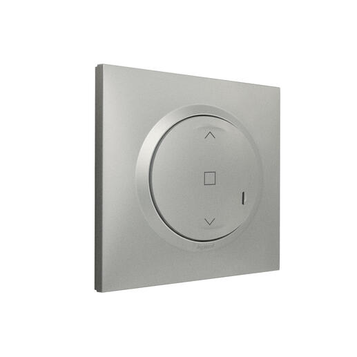 Interrupteur pour volet roulant à câbler pour installation connectée dooxie with Netatmo avec plaque effet aluminium
