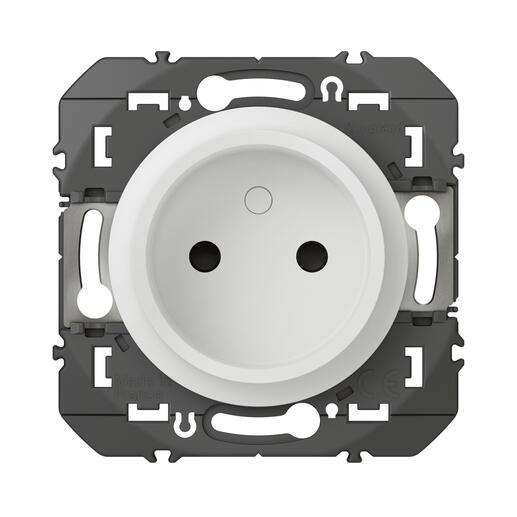 Prise de courant 2P à puits dooxie 16A finition blanc