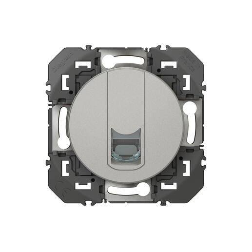 Prise blindée RJ45 catégorie6 STP dooxie finition alu