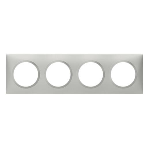 Plaque carrée dooxie 4 postes finition effet aluminium