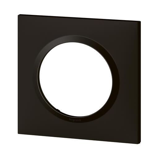 Plaque carrée dooxie 1 poste finition noir velours