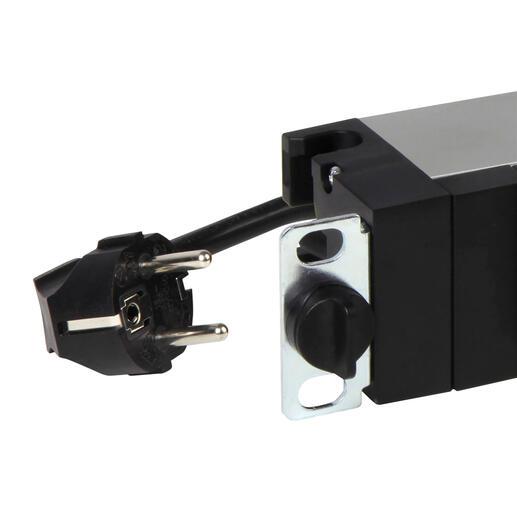 PDU avec disjoncteur 16A 19pouces 1U LCS³ avec 6 prises 2P+T et cordon d'alimentation 3m avec fiche 2P+T 16A