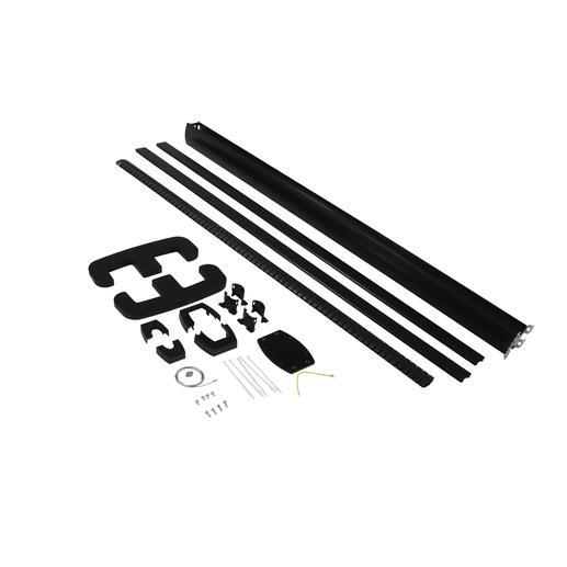 Colonne mobile à clippage direct 2 compartiments hauteur 2m couvercle PVC et corps en alu - noir RAL9017