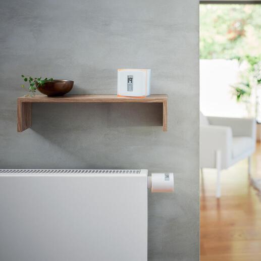 Tête Thermostatique Additionnelle Intelligente Netatmo fonctionne avec Thermostat ou Starter Pack Intelligents