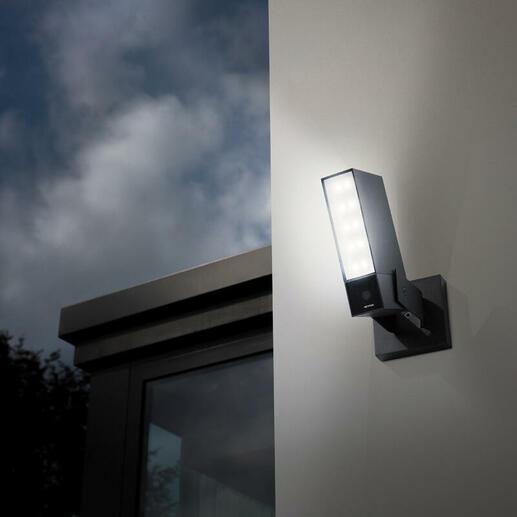 Caméra Extérieure Intelligente et connectée Netatmo projecteur LED inclus et alerte sur smartphone - alu/noir