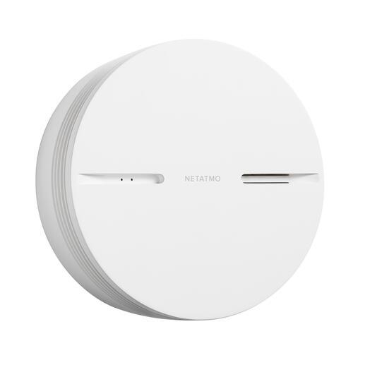 Détecteur de Fumée Intelligent et connecté Netatmo avec alarme 85dB et alerte sur smartphone - blanc