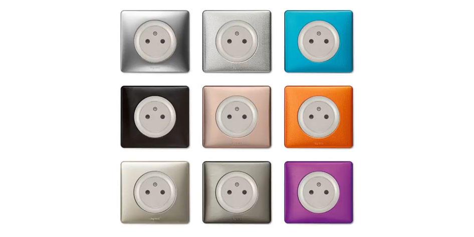 interrupteurs et prises lectriques c liane espace grand. Black Bedroom Furniture Sets. Home Design Ideas