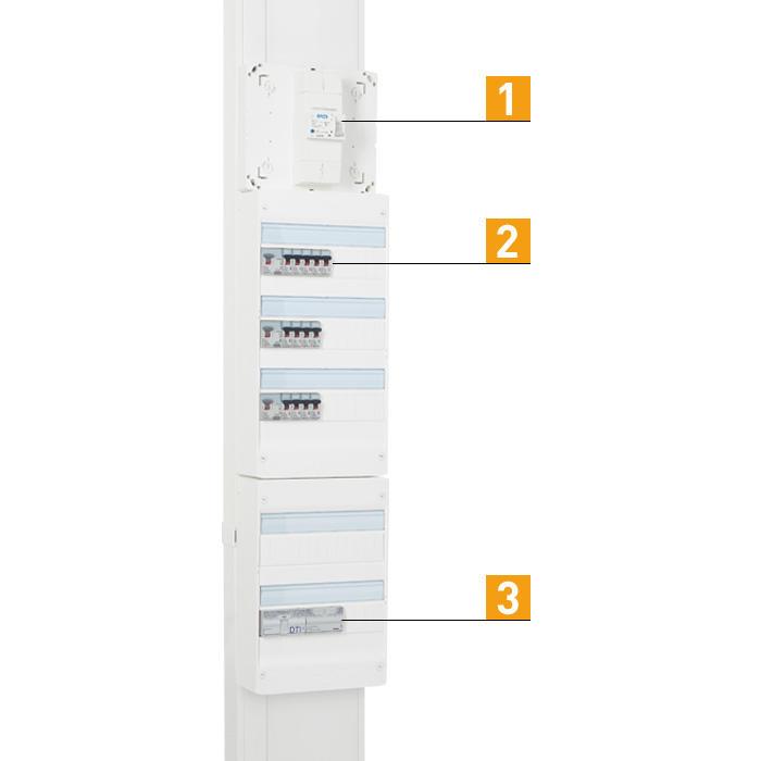 Norme electrique maison affordable lectrique protection et disjoncteur de branchement with - Norme hauteur tableau electrique ...