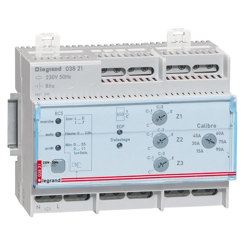 Gestionnaire modulaire pour chauffage électrique fil pilote pour 3 zones - 6 modules