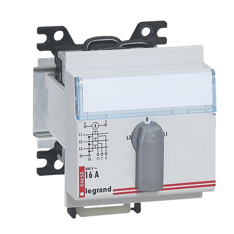 Commutateur d'ampèremètre modulaire triphasé 4 positions - 3 modules