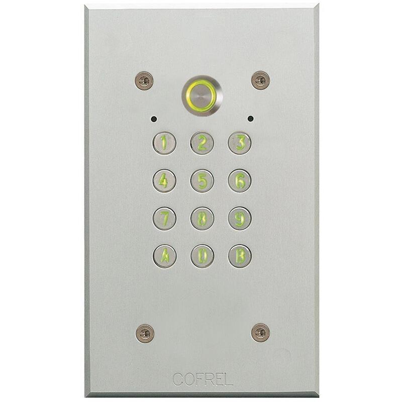 Clavier codé Tercode 2050N Argent sans emplacement Vigik®