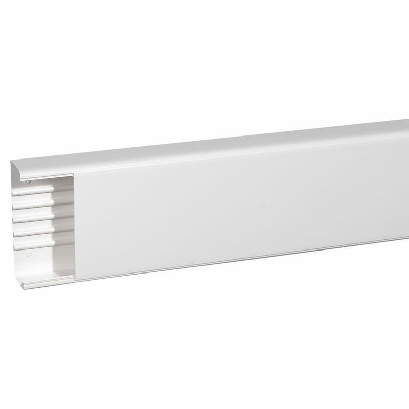 Goulotte 1 compartiment 65x195mm DLP monobloc - blanc