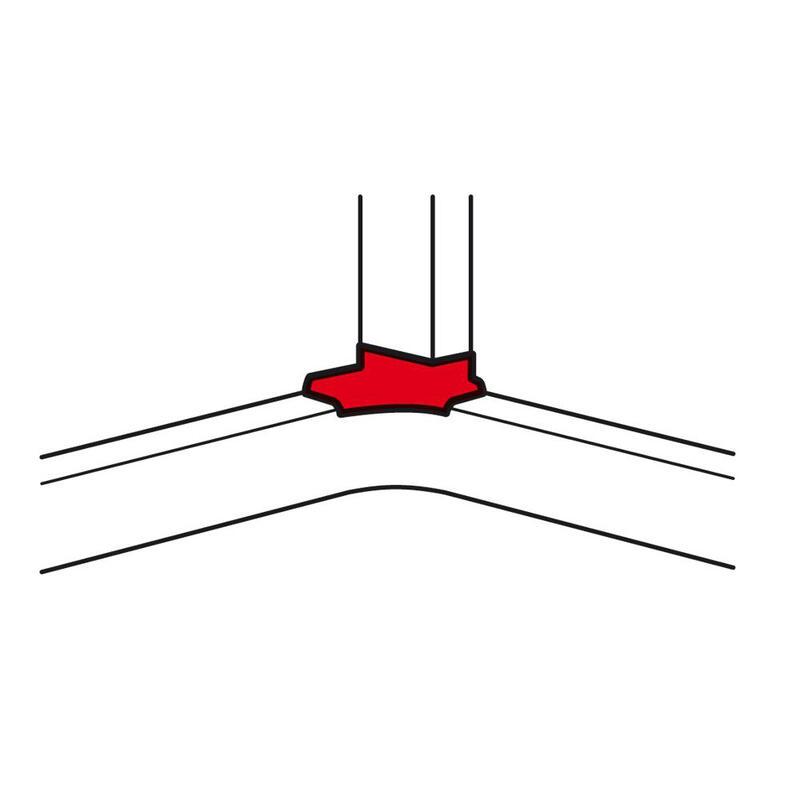 Dérivation d'angle pour goulottes DLP monobloc profondeur 65mm - blanc