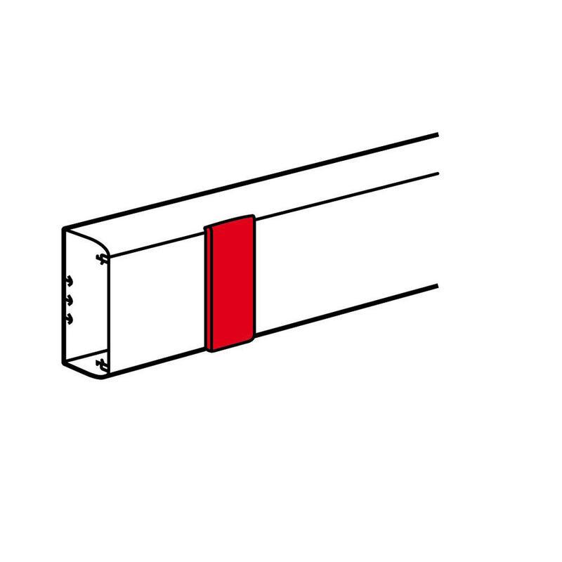 Joint de couvercle largeur 180mm pour goulottes DLP monobloc 50x195mm ou 65x195mm - blanc