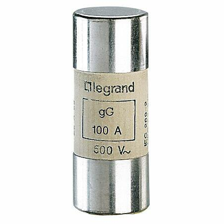 Cartouche industrielle cylindrique typegG 22x58mm sans percuteur - 100A