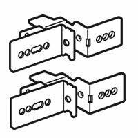 Jeu de 2 supports de fixation de goulotte Lina 25 pour coffrets et armoires XL³4000 et XL³800 - 24 modules
