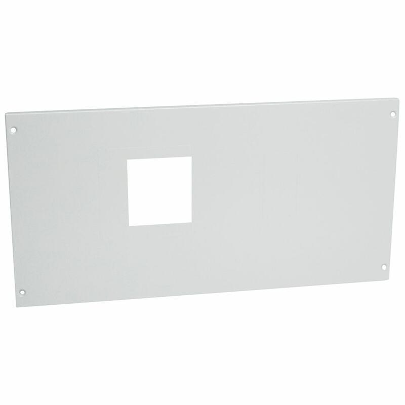 Plastron métal à vis pour 1 DPX³630 avec commande en position horizontale dans XL³4000 et XL³800 - hauteur 300mm