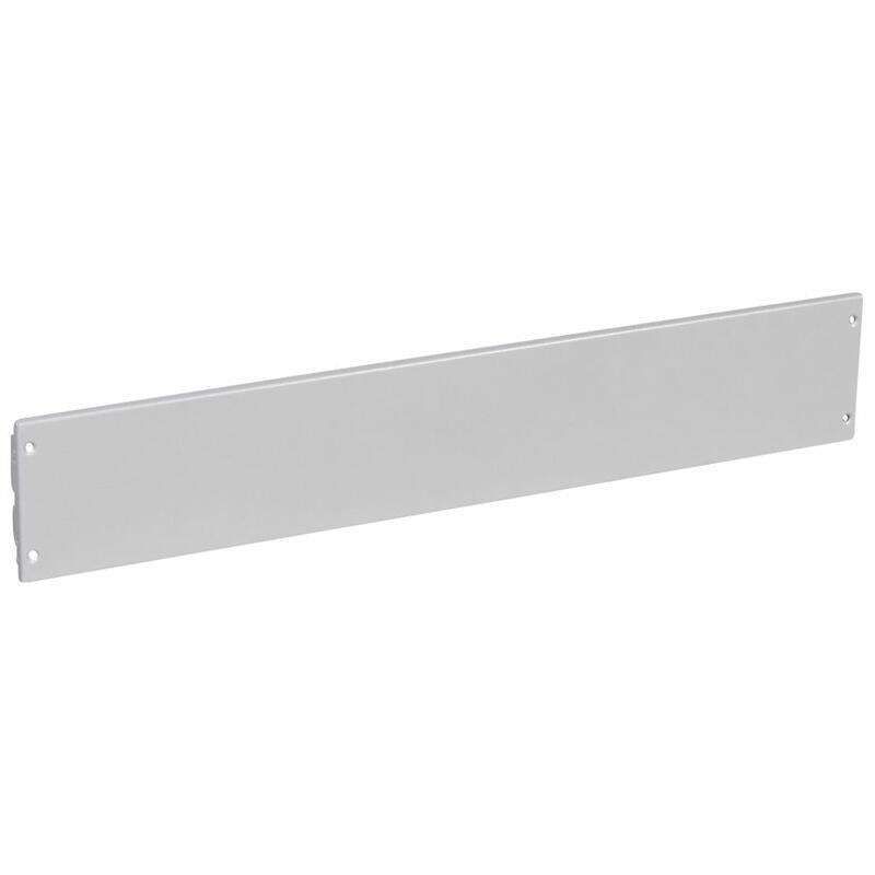 Plastron plein métal à vis pour XL³4000 et XL³800 - hauteur 150mm - 36 modules