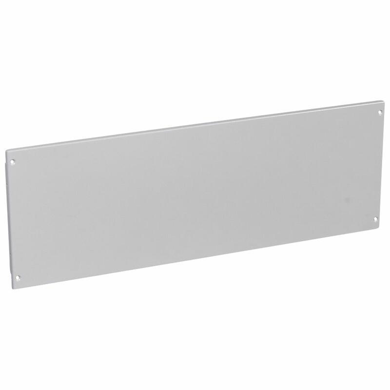 Plastron plein métal à vis pour XL³4000 et XL³800 - hauteur 300mm - 36 modules