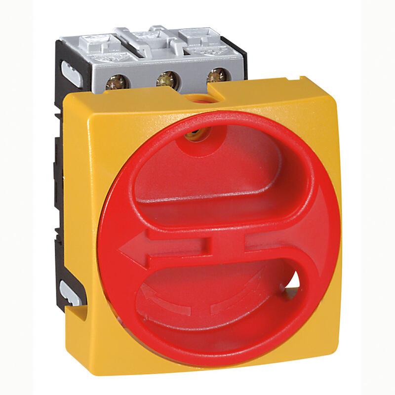 Interrupteur-sectionneur rotatif complet encastré cadenassable - tripolaire - 25A