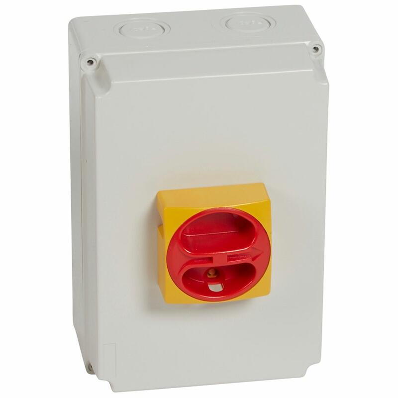 Interrupteur-sectionneur rotatif complet de proximité - tétrapolaire neutre à gauche - 40A