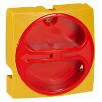 Manette cadenassable IP40 pour interrupteur-sectionneur rotatif composable - 80A et 100A - jaune et rouge