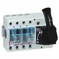 Interrupteur-sectionneur Vistop 125A - 4P avec commande frontale et poignée noire