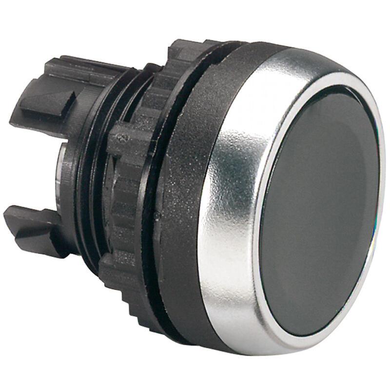 Tête à impulsion non lumineuse affleurante IP69 Osmoz composable - noir