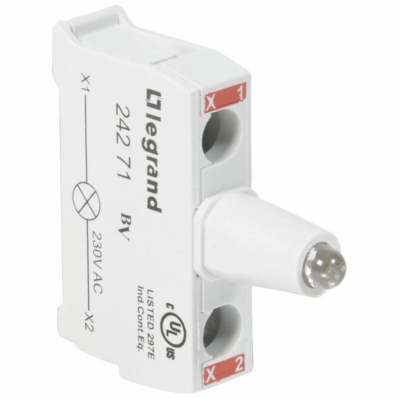 Bloc lumineux LEDs Osmoz pour boîte à boutons - raccordement à vis - 230V~ - rouge