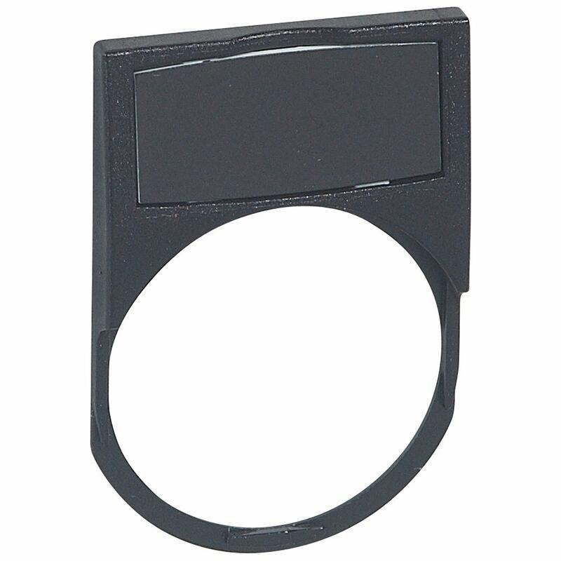 Etiquette Osmoz , cadre équipé d'un insert noir - petit modèle