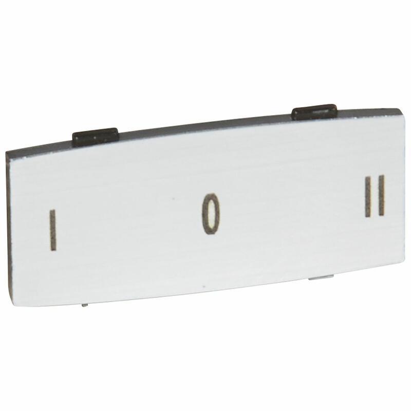 Insert Osmoz avec texte à enclipser sur un cadre - alu - petit modèle avec marquage I O II