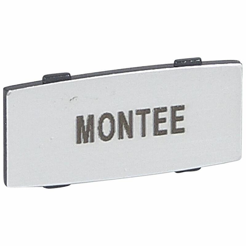 Insert Osmoz avec texte à enclipser sur un cadre - alu - petit modèle avec marquage MONTEE